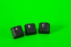 Trois clés en plastique Image libre de droits