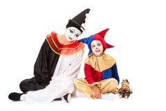 Trois clowns Photographie stock