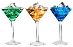 Trois cocktails image libre de droits