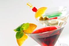 Trois cocktails photo libre de droits