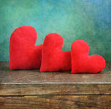 Trois coeurs Images libres de droits
