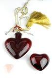 Trois coeurs brillants Photos libres de droits