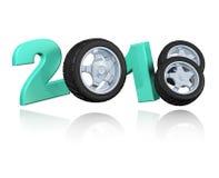 Trois conception des roues 2018 illustration de vecteur