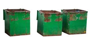 Trois conteneurs d'ordures photographie stock