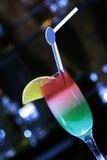 Trois couches de jus de cocktail Images stock