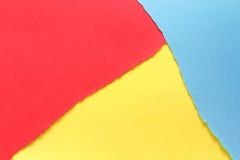 Trois couleurs, rouge, jaune, bleu images libres de droits