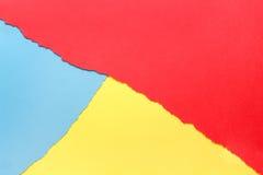 Trois couleurs, rouge, jaune, bleu photo stock