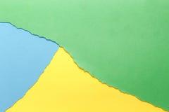 Trois couleurs, vert, jaune, bleu photo libre de droits