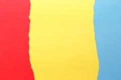 Trois couleurs, vert, jaune, bleu photos stock