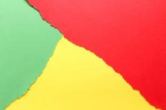 Trois couleurs, vert, jaune, rouge photographie stock libre de droits