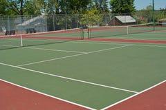 Trois courts de tennis Photos libres de droits
