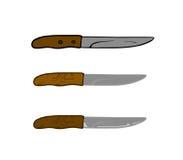 Trois couteaux photographie stock