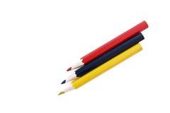 Trois crayons Photographie stock libre de droits
