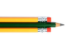 Trois crayons Images stock