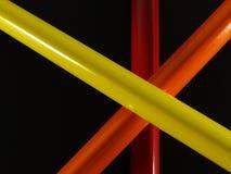 Trois crayons de couleur Images libres de droits