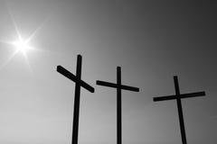 Trois croix Photo stock