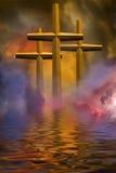 Trois croix Image libre de droits