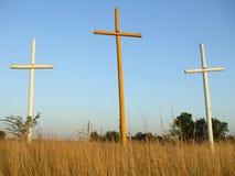Trois croix Image stock