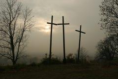 Trois croix Images libres de droits
