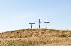 Trois croix Photographie stock libre de droits