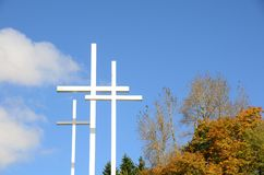 Trois croix horizontales Photographie stock