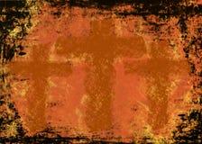 Trois croix sur un fond grunge Photographie stock