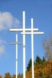 Trois croix verticales Photo stock