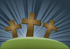 Trois crucifixs illustration de vecteur