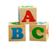 Trois cubes Images libres de droits
