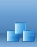 Trois cubes Image stock