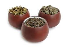 Trois cuvettes de thé Photographie stock libre de droits