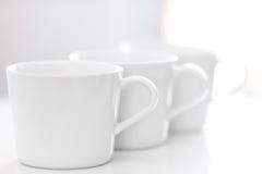 Trois cuvettes de thé Photos stock