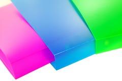 Trois dépliants multicolores Image stock
