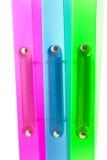 Trois dépliants multicolores Photo libre de droits