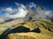 Trois d'Arves d'Aiguilles de crêtes dans les Alpes français, Frances. Photographie stock libre de droits
