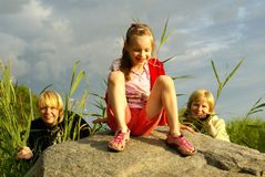Trois d'un genre Photo stock