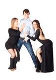 Trois danseurs de hâte Photographie stock