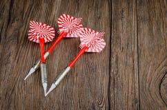 Trois dards de flèches Photographie stock