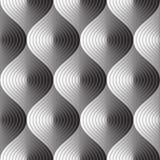 Trois dimensions soustraient le modèle sans couture Illustration Stock