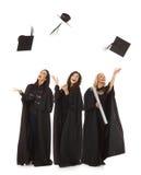 Obtention du diplôme heureuse Images libres de droits
