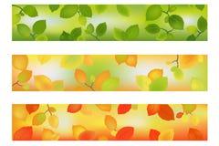 Trois drapeaux ou milieux de saison. Vecteur illustration stock