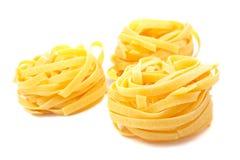 Trois emboîtements crus de pâtes images stock