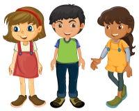 Trois enfants Photo stock