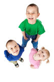 Trois enfants de mêmes parents Photos libres de droits