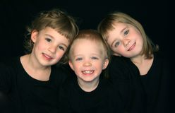 Trois enfants de mêmes parents Photographie stock