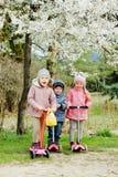 Trois enfants heureux Photos libres de droits