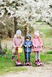 Trois enfants heureux Photos stock
