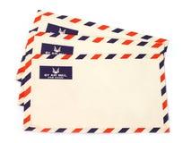 Trois enveloppes de par avion Photographie stock
