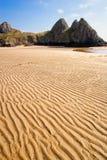 Trois falaises aboient dans Gower, Pays de Galles, R-U Photos libres de droits