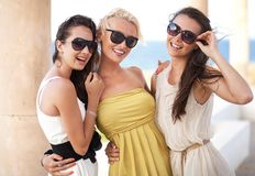 Trois femmes adorables Image libre de droits